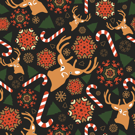 Colourful Christmas pattern. Vector illustration Vector