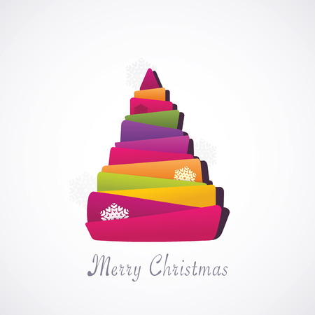 Christmas modern tree  illustration