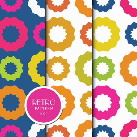 Colorful geometric pattern set Illustration