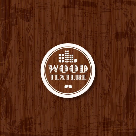 Abstract wooden texture background with typographic label  Vector illustration