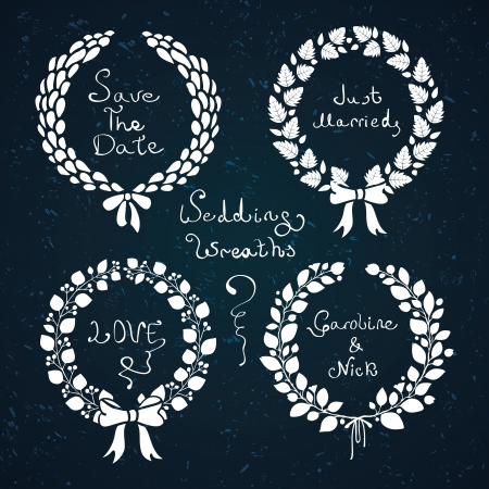 Wedding wreath set. Vector illustration Illustration