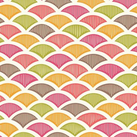 Retro geometric seamless pattern. Vector Illustration