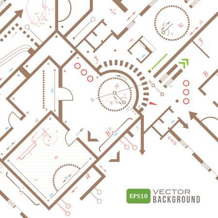 cad drawing: Architectural background  Vector