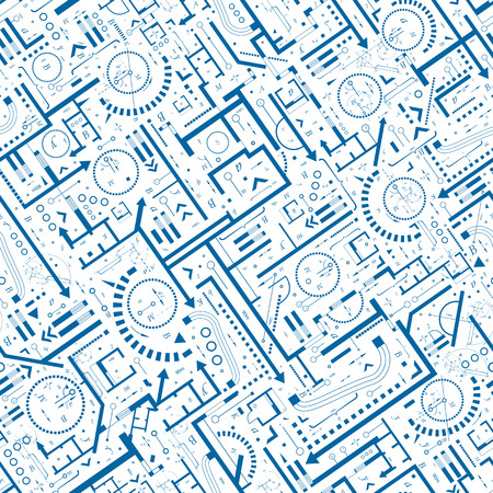 Abstract architectural seamless pattern  Illustration