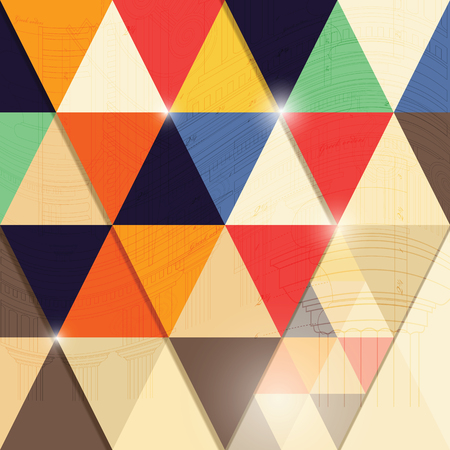 Abstract geometric background with colourful triangle shapes