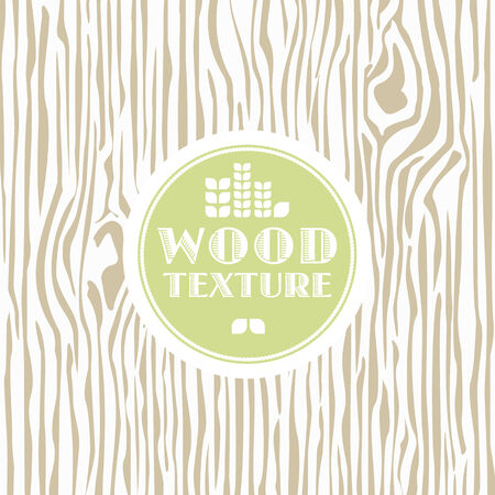 Wood texture background with vintage frame. illustration Vector