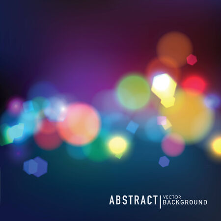 Abstract vector background. Blurred defocused lights of the night city