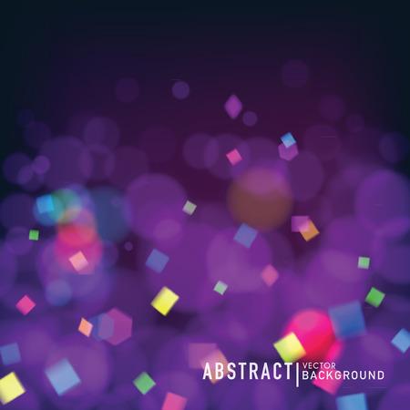 compleanno: Astratto sfondo sfocato, con effetto bokeh e coriandoli. Wallpaper per celebrare o design invito a una festa. Vettoriali