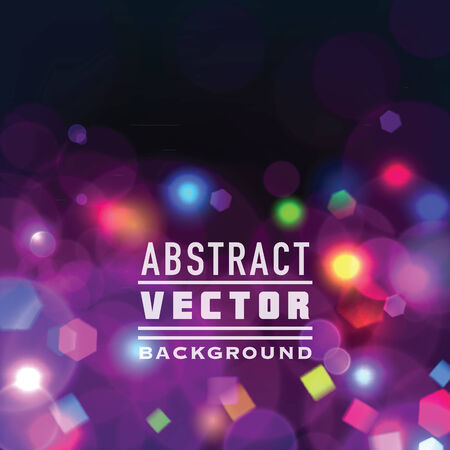 new years eve party: Abstract vector festive background with bokeh lights