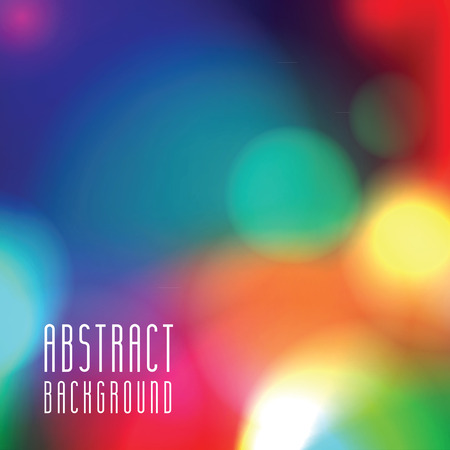 Colorful abstract background with bokeh lights. Vector illustration