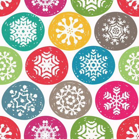 snow crystals: Seamless Christmas snowflake pattern for gift wrapping paper and greeting cards