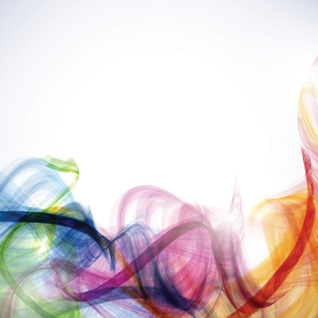 Abstract background with colorful curves Illustration