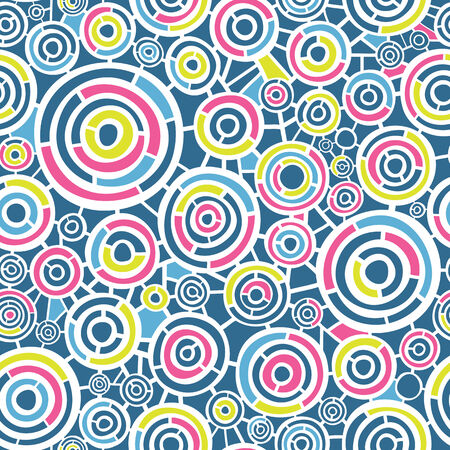 Abstract retro pattern with circles Vector