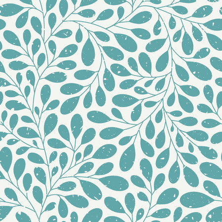 Retro seamless floral pattern with grunge texture Vettoriali