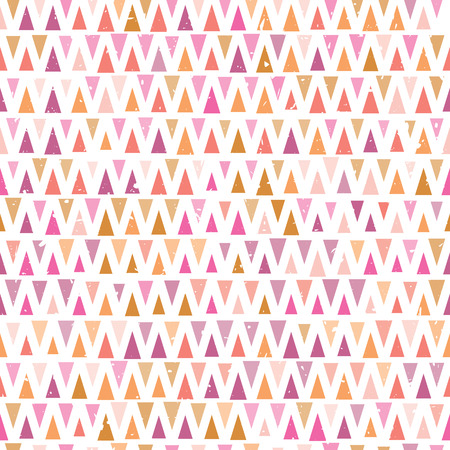 Retro Geometric seamless pattern with triangles