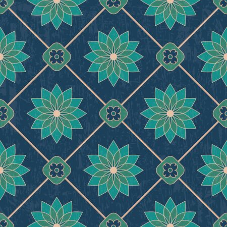 Luxury ethnic ornamental pattern with old texture. Vector seamless background