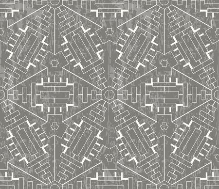 Vintage grunge background with tribal ornamental pattern