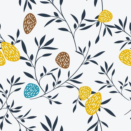 Abstract floral pattern. Vector illustration. Peut être utilisé comme motif de tissu, papier d'emballage, web background Banque d'images - 51219274