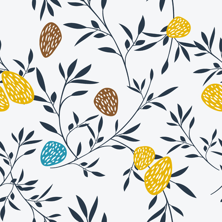 Abstract floral pattern. Vector illustration. Can be used as fabric design, wrapping paper, web background