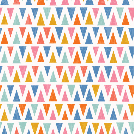 Abstract retro triangle seamless pattern Illustration