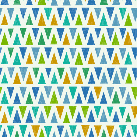 Seamless triangle pattern. Retro textured background Illustration