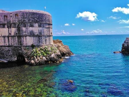 Croatia Dubrovnik castle by the sea