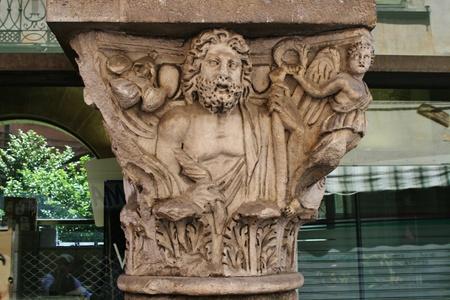 Roman sculpture, Pisa Italy Banco de Imagens