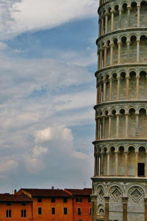 Leaning tower of pisa, baptistry and church Banco de Imagens