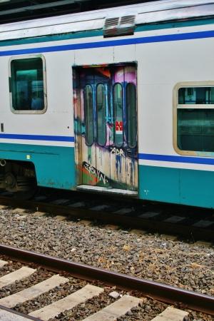 피렌체 기차 낙서