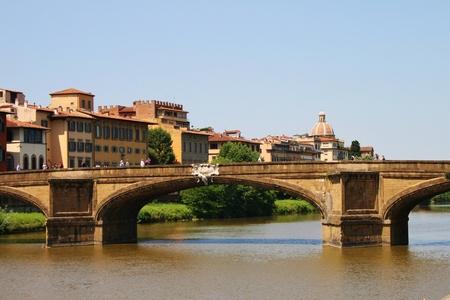 bridge Arno river florence landscape