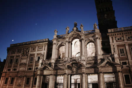 Maria Maggiore, Rome church at night