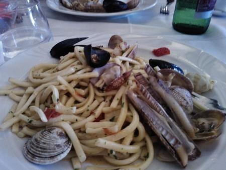 Italian seafood pasta Editorial