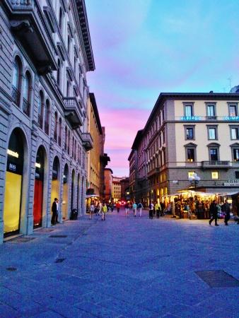 arno: Florence sunset Arno river Editorial
