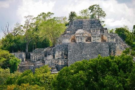 カラクムールのマヤ遺跡、ユカタン半島のジャングルで 写真素材