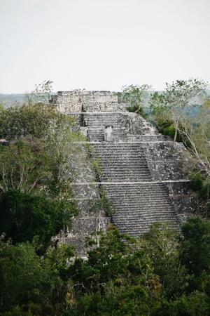 Calakmul faded vintage ruins Banco de Imagens