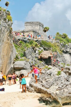 Tulum beach and Mayan Ruins