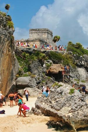 トゥルムのビーチとマヤ遺跡 報道画像