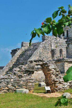 Tulum Mexico Mayan Ruins Banco de Imagens