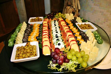 Gourmet cheese and snack plate