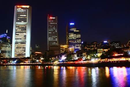 Singapore River Night, Central Business District, City Singapore