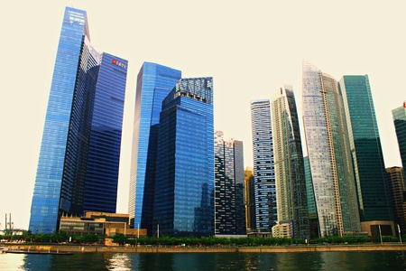 finacial: Marina Bay Finacial Center Singapore MBFC, Central Business District CBD Editorial