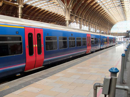 Train to Paddington Station in London, UK. Paddington Station is one of the busiest in Europe.