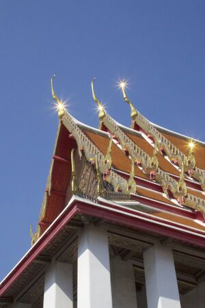 wat pho: The Highest Point of Buddhist sanctuary of Wat Pho in the Phra Nakhon District, Bangkok Thailand.