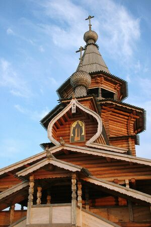 wooden church in Russia photo