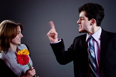 young couple conflict Stock Photo - 4515363