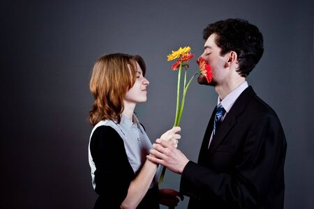 young couple conflict photo