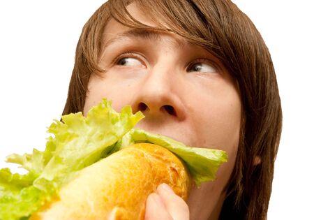 空腹の若い男
