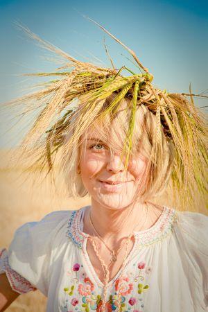 girl in field of wheat Stock Photo - 6128799