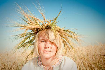 girl in field of wheat Stock Photo - 6128800