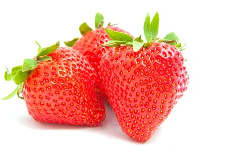 strawberry on white background Stock Photo